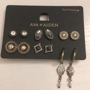 Ava & Aiden NWT Semi-precious earring set